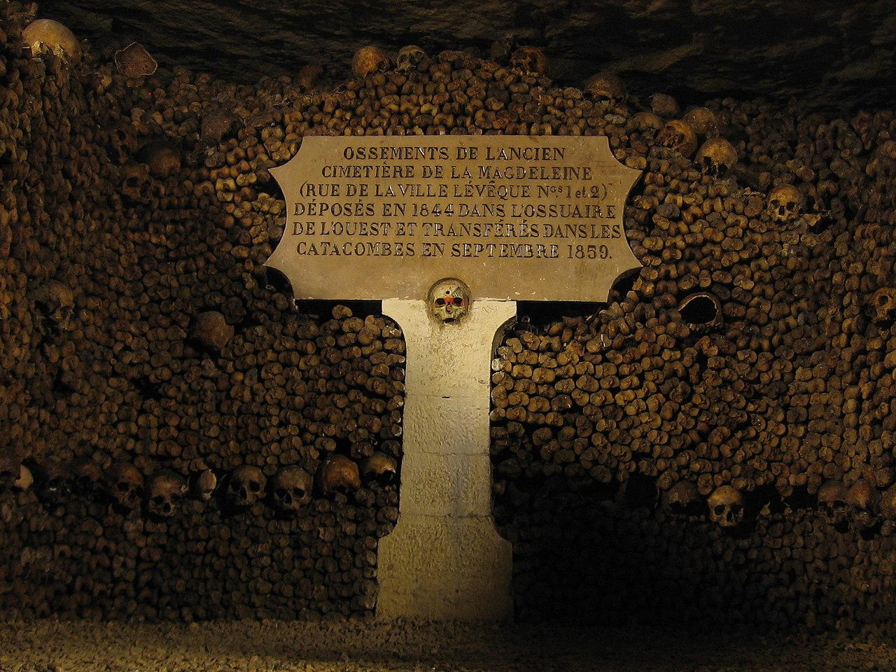 catacombs, most haunted places