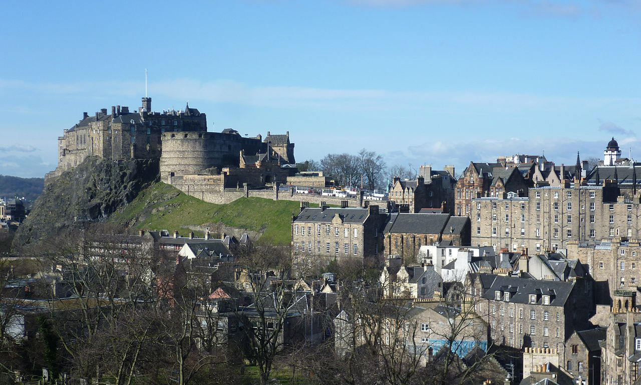 edinburgh castle, most haunted places