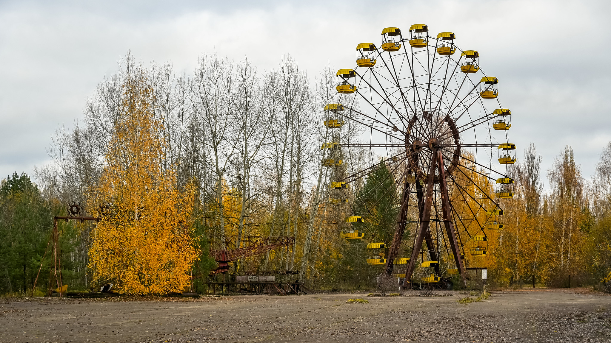 ferris wheel, pripyat amusement park