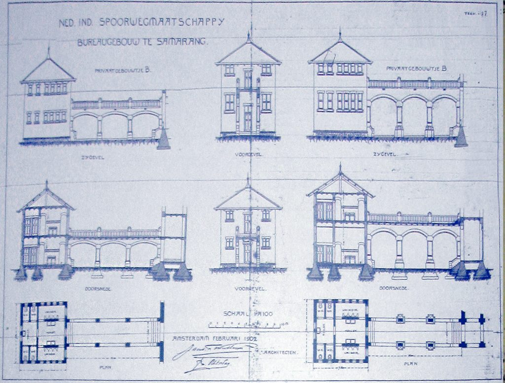 Blueprints Lawang Sewu