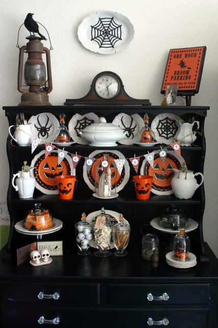 hutch, halloween decorations