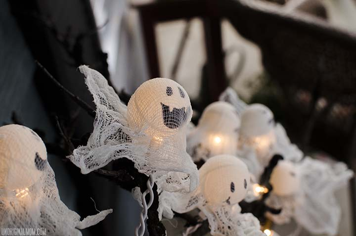 ghost lights, halloween decorations