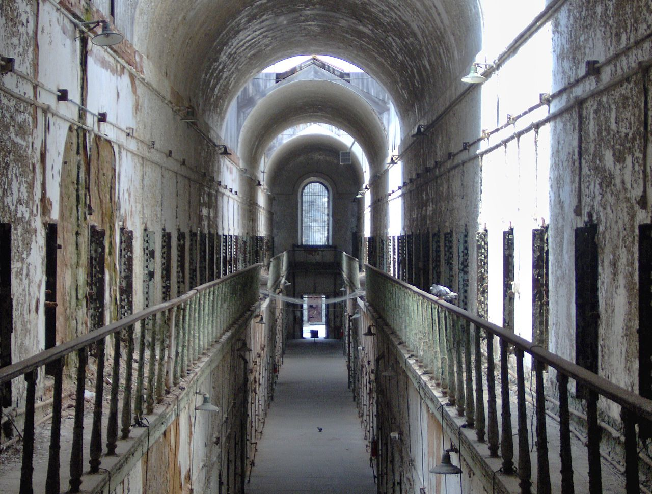 eastern state penitentiary, hallway, abandoned places